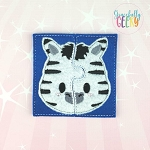 Zebra Toddler 4x4 Hoop Puzzle Embroidery Design