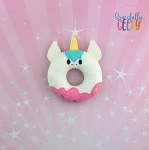 Unicorn Donut Stuffie Embroidery Design - 4x4 Hoop or Larger {Release: Sept18 W3 10/26}