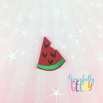 Watermelon Bite Feltie TH Embroidery Design 4x4 hoop (and larger)