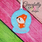 Fox ornament Embroidery Design 4x4 hoop and up