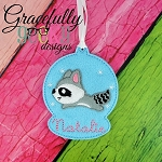 Raccoon ornament Embroidery Design 4x4 hoop and up
