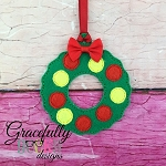 Wreath ornament Embroidery Design 4x4 hoop and up