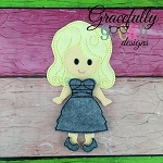 Jessica Dress up Doll - Embroidery Design 5x7 hoop or larger