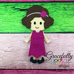 Lillian Dress up Doll - Embroidery Design 5x7 hoop or larger