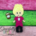 Molly Dress up Doll - Embroidery Design 5x7 hoop or larger