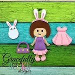 Ziley Dress up Doll - Embroidery Design 5x7 hoop or larger