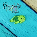 Baby Turtle Feltie ITH Embroidery Design 4x4 hoop (and larger)