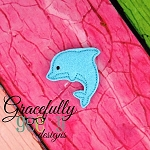 Dolphin Feltie ITH Embroidery Design 4x4 hoop (and larger)