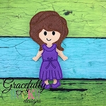 Zora Dress up Doll - Embroidery Design 5x7 hoop or larger