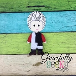 Carlos Dress up Doll - Embroidery Design 5x7 hoop or larger
