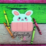 Bunny Crayon Holder Embroidery Design - 4x4 hoop ONLY