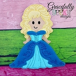 Hannah Dress up Doll - Embroidery Design 5x7 hoop or larger