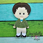 James Dress up Doll - Embroidery Design 5x7 hoop or larger