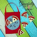 Pizza Counting Game Set Busy Bag  Embroidery Design - 5x7 Hoop or Larger