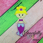 Coral  Dress up Doll - Embroidery Design 5x7 hoop or larger