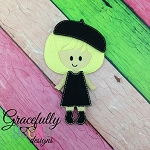 Sarah Dress up Doll - Embroidery Design 5x7 hoop or larger