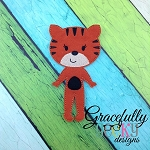 Tiger Girl  Dress up Doll - Embroidery Design 5x7 hoop or larger