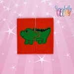 Alligator Toddler 4x4 Hoop Puzzle Embroidery Design