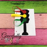 Traffic Light Quiet Book Page Embroidery Design - 5x7 Hoop or Larger