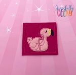 Flamingo Toddler 4x4 Hoop Puzzle Embroidery Design