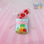Fruit Memory Game Drawstring Bag Embroidery Design - 5x7 Hoop or Larger Release: Dec14 DecW1