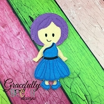 Addison Girl Dress up Doll - Embroidery Design 5x7 hoop or larger