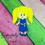 Bailey Girl Dress up Doll - Embroidery Design 5x7 hoop or larger