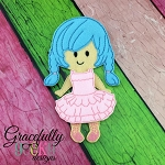 Gabby Girl Dress up Doll - Embroidery Design 5x7 hoop or larger