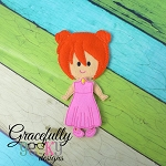Hailey Girl Dress up Doll - Embroidery Design 5x7 hoop or larger