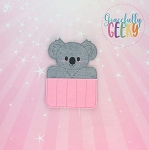 Koala Crayon Holder Embroidery Design - 5x7 Hoop or Larger