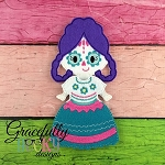 Catrina Girl Dress up Doll - Embroidery Design 5x7 hoop or larger