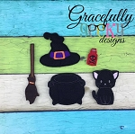 Witch Dress up Doll SET- Embroidery Design 5x7 hoop or larger