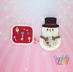 Snowman iSpy  Embroidery Design - 5x7 Hoop or Larger