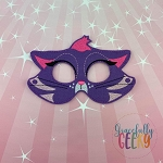 Hissy Cat Mask Embroidery Design - 5x7 Hoop or Larger