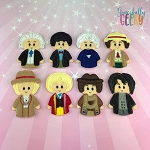 Doctor 1-8 finger puppet set - Embroidery Design