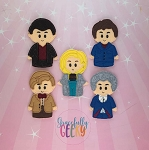 Doctor 9-13 finger puppet set - Embroidery Design