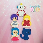 True finger puppet set - Embroidery Design