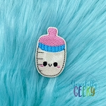 Baby Bottle Feltie ITH Embroidery Design 4x4 hoop (and larger)