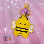 Bee Sanitizer Holder Embroidery Design - 5x7 Hoop or Larger