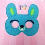 Bunny Toy Mask Embroidery Design - 5x7 Hoop or Larger