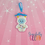 Candy Land Crew Yeti Ornament Embroidery Design - 4x4 Hoop or Larger