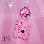 Camera Sanitizer Holder Embroidery Design - 5x7 Hoop or Larger