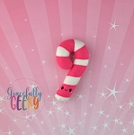 Candy Cane Felt Stuffie Embroidery Design - 5x7 Hoop or Larger