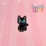 Black Cat Feltie ITH Embroidery Design 4x4 hoop (and larger)