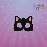 Black Cat Mask Embroidery Design - 5x7 Hoop or Larger