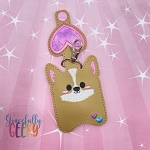 Corgi Sanitizer Holder Embroidery Design - 5x7 Hoop or Larger