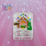 Santa's Workshop Elf Countdown to Christmas Embroidery Design