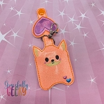 Fox Sanitizer Holder Embroidery Design - 5x7 Hoop or Larger