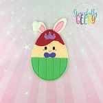 Princess Egg 1 Crayon Holder Embroidery Design - 5x7 Hoop or Larger