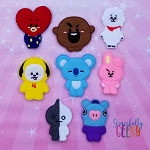 BT finger puppet set - Embroidery Design